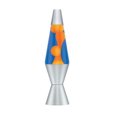 """LAMPE LAVA ORANGE ARGENT 14.5"""""""