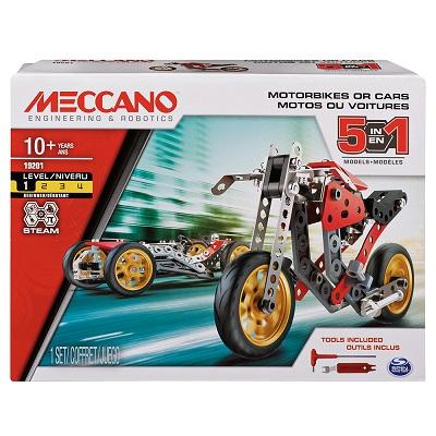 MECCANO 5 EN 1 MOTO DE COURSE