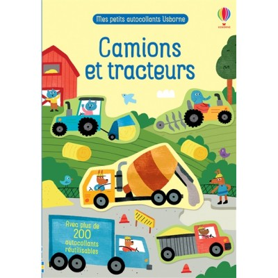 CAMIONS ET TRACTEURS/AUTOCOLLANTS REUTILISABLES