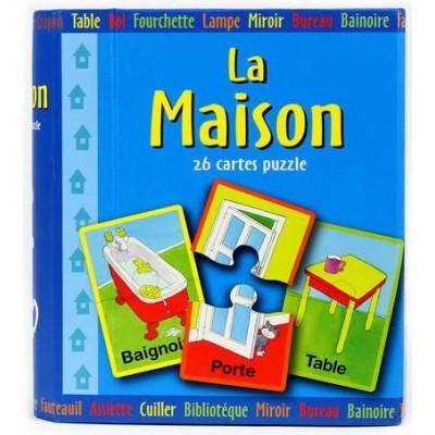 MAISON LA/COFFRET 26 CARTES PUZZLE