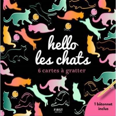 HELLO LES CHATS/6 CARTES À GRATTER
