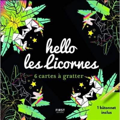 HELLO LES LICORNES/6 CARTES À GRATTER