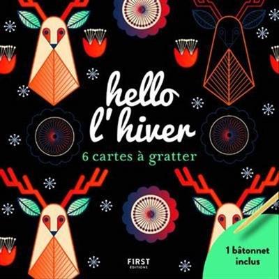 HELLO L'HIVER/6 CARTES À GRATTER
