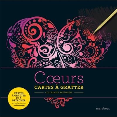 COEURS/CARTES A GRATTER