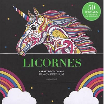 LICORNES/CARNET DE COLORIAGE