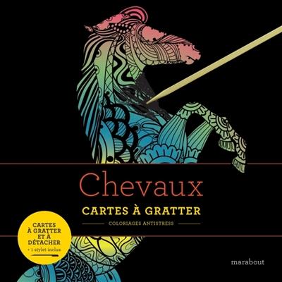 CHEVAUX CARTES A GRATTER
