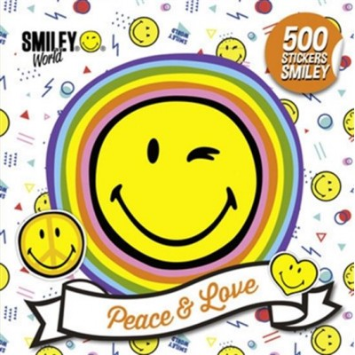 PEACE AND LOVE/500 STICKERS SMILEY