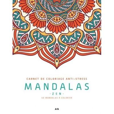 MANDALAS ZEN/CARNET DE COLORIAGE ANTI-STRESS