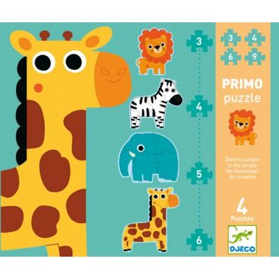 PRIMO PUZZLE/DANS LA JUNGLE 3-4-5-6