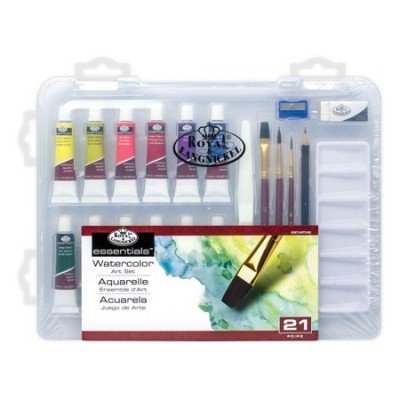 ENSEMBLE D'ART VALISE 21 AQUARELLE